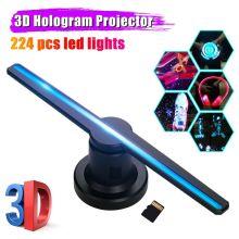 3D Hologram Projector Fan Advertising Lights Display 3D Fan Hologram Holographic Imaging Lamp Lights & Lighting Decoration