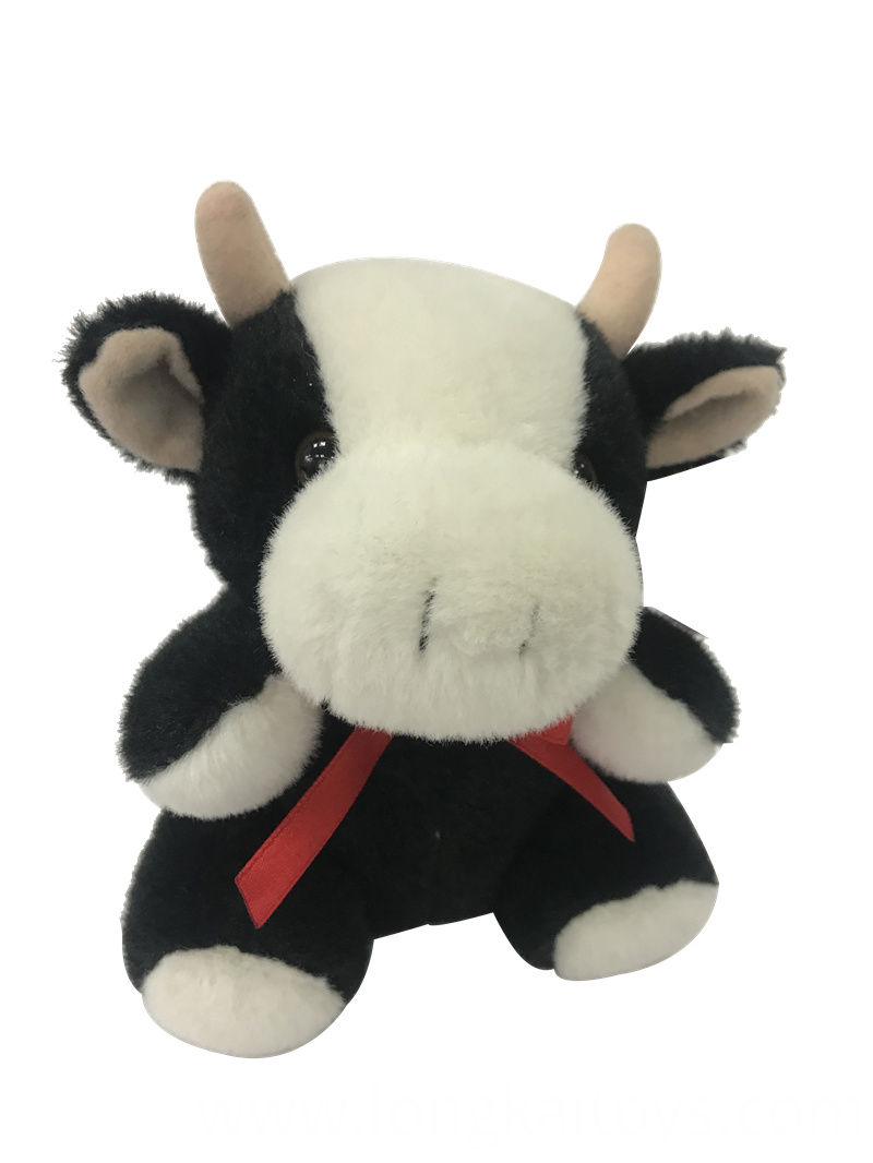 Plush Cow With Ribbon