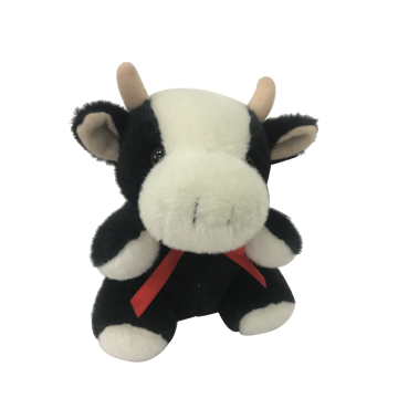 Soft Plush Cow With Ribbon