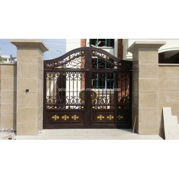 Hand-Crafted Elegant Design Wrought Iron Driveway Gate