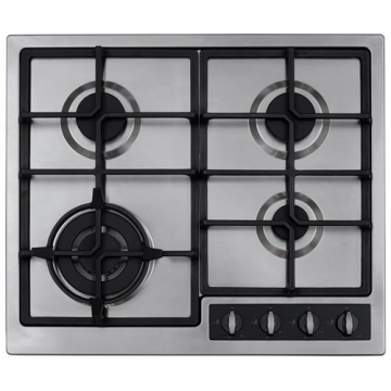 CDA Gas Hobs 4 Burner Stainless Steel Top