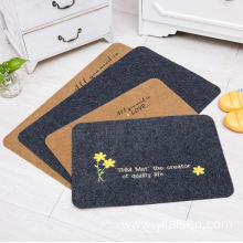 Factory price anti dust embroidery door mat