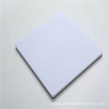 Hard plastic solid polycarbonate screen panel white
