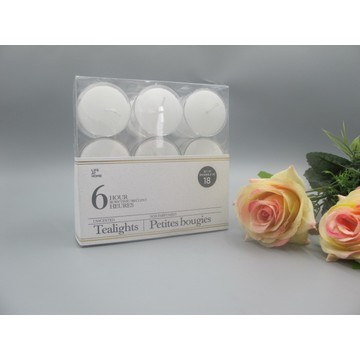 PVC Box Packed White Tealight Candle