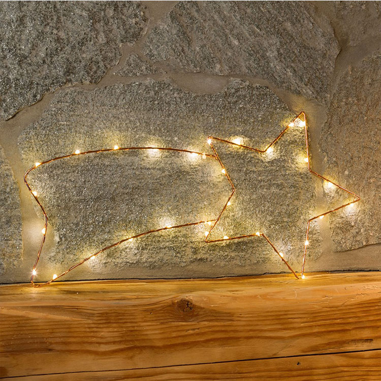 Star Copper Wire Light