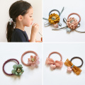 2019 Fashion Girls Candy Floral Colors Nylon Rubber Bands Children Safe Elastic Hair Bands Ponytail Holder Kid Hair Accessories