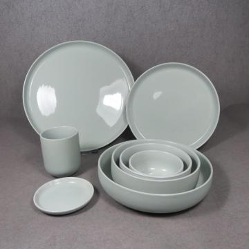 Color Glaze Stoneware Dinner Set