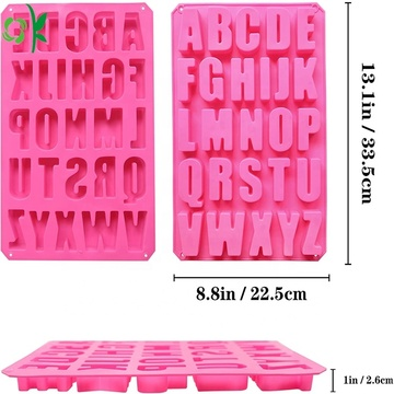 Hot Selling 26 Alphabet Silicone Cake Baking Mold