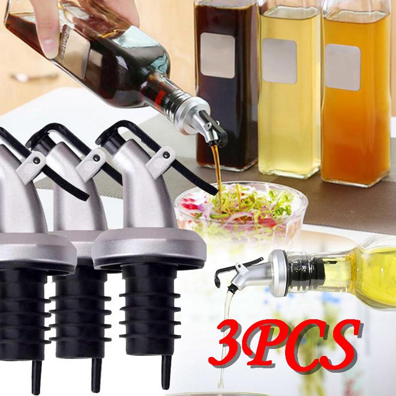 Olive Oil Sprayer Liquor Dispenser Top Stopper Kitchen Tools Leak-proof Food Grade Oil Bottle Stopper Vinegar Bottles Dropship