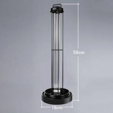 Timed UV disinfection table lamp