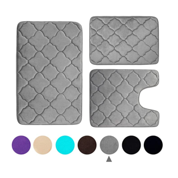 Memory Foam Bath Rug 3 PCS Set