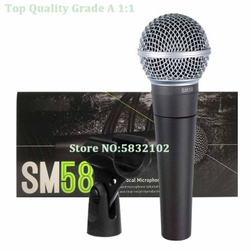 Free Shipping High Quality SM58 LC Wired Dynamic Cardioid Microphone,SM58 Wired Microphone,Clear Sound Microfonos,Microfone