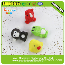 different kinds animal eraser for kids promotional gift