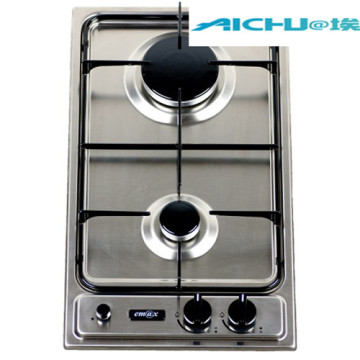 Lpg Gas Hobs Stainless Steel 2 Burners