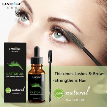 5pcs Natural Castor Oil Growth Stimulator Serum for Eyelash Growth Eyelash Eyebrow Liquid Grow Enhancer Longer Thicker 10ml