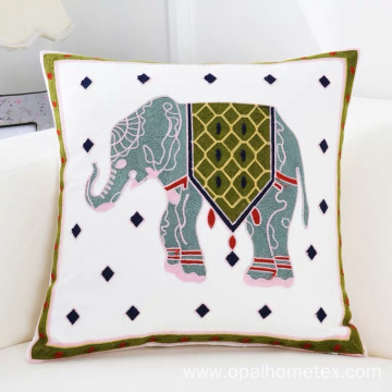 A Pillow Embroidered With Elephant Cushion