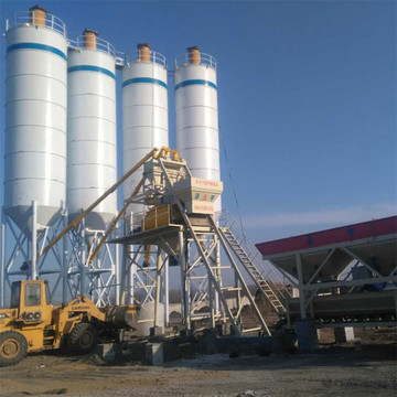 HZS75 fixed ready mixed calibration concrete batching plant
