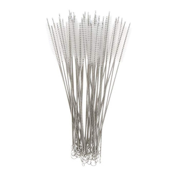 UPORS 50Pcs/Set Reusable Straw Brush Eco Friendly Stainless Steel Cleaner Brush for 6mm/12mm Straws Pipe Tube Cleaning Brushes