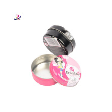Small Round Make up Metal Tin Box