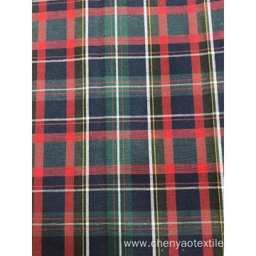 T/C (40%Cotton 60%Polyester) Woven Yarn-dyed Plaid Fabric