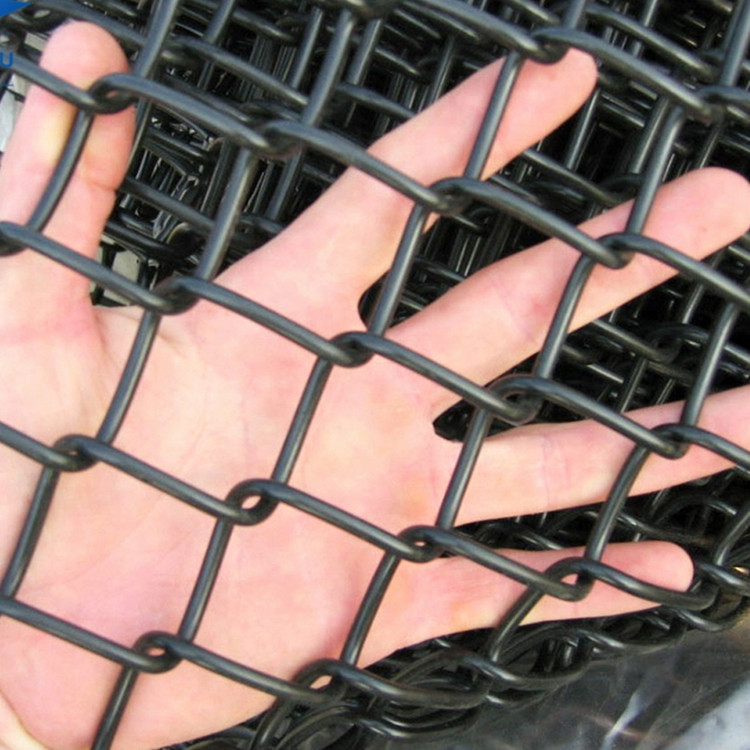galvanized and pvc wire mesh chain link fence