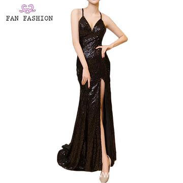 Mid Night Black Full Sequin Ball Gown