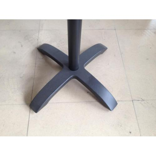 cast aluminum table base black color