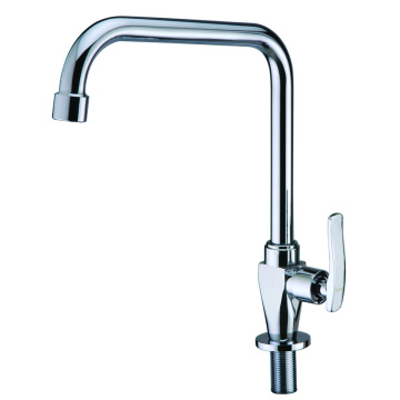 Single handle cold water only kitchen faucet brass