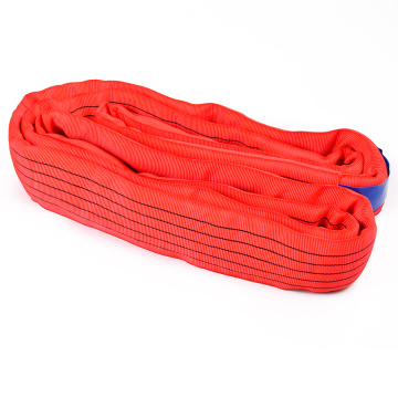 5 Ton Capacity 5M Or OEM Length Lifting Cheap Price 5T Round Sling Belt Red Color Safety Factor 8:1 7:1
