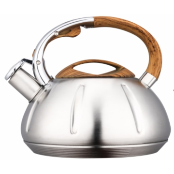 4.5L white and gold tea kettle
