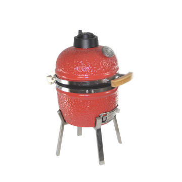 13inch mini red ceramic kamado grill SS cart