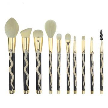 3D Snake Totem Brushes New 10 piece Makeup Brush Set