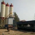 Layout construction fully automatic concrete batching plant