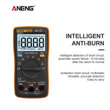 ANENG AN8002 Digital Multimeter 6000 Counts Backlight AC/DC Ammeter Voltmeter Ohm Alligator Clip Jumper Wire Test Lead