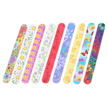 Sponge Colorful Straight Nail File For Nail Art