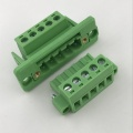 5way 5.08 pitch through wall panel terminal block