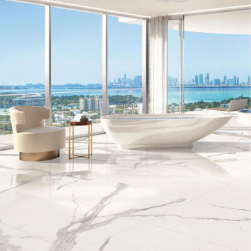 Large scale high end porcelain tile shower
