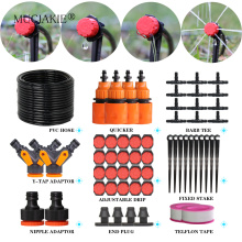 MUCIAKIE 60M Adjustable Garden Irrigation Drip System Bonsai Watering Kit 4/7mm New PVC Hose Tape Connector Drippers Tee Fitting