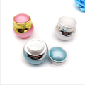 Colorful round acrylic cosmetic jar
