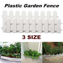 12PCS/Set Garden Lawn Grass Edging Fence Border Panel Plastic Wall Fencing Board Garden Yard Decoration DIY Assemble 3 Sizes