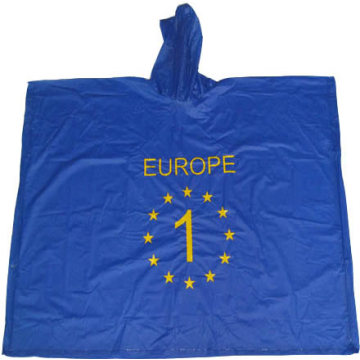 reusable pvc rain poncho with logo