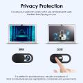 20pcs/lot WebCam Cover Mobile Phone Privacy Sticker Shutter Magnet Slider Plastic For iPhone Web Laptop PC Tablet lenses Camera