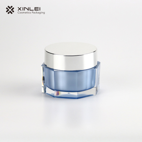 30 g Octangle Shape Cosmetics Acrylic Jar