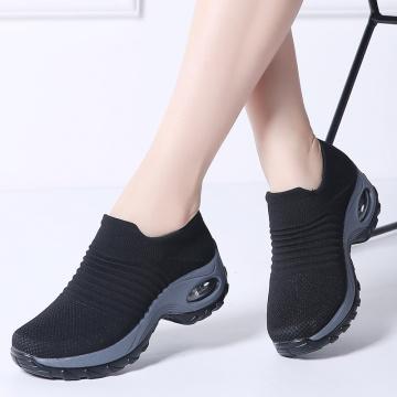 STEP QUEEN Women Sneakers Shoes Flat Slip On Platform Sneakers For Women Black Breathable Mesh Sock Sneakers Shoes 1839