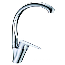 Gooseneck designed sink brass kitchen faucet swivel