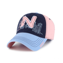 Washed Ladies baseball cap with double layers patch