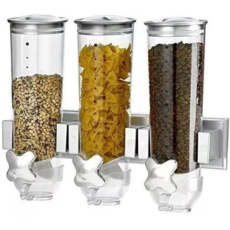 Barrels Cereal Machine Kitchen Storage Containers Round Grain Dispenser Oat Storage Tank Self-service Food Storage Container