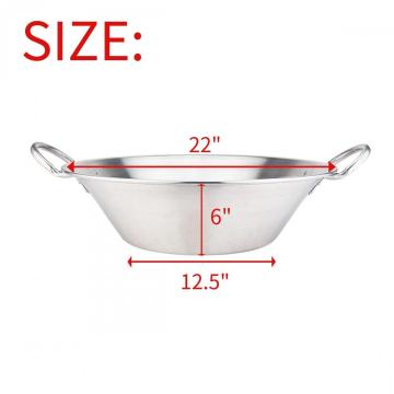 21Quart Stainless Steel Large Cazo with Sandwich Bottom