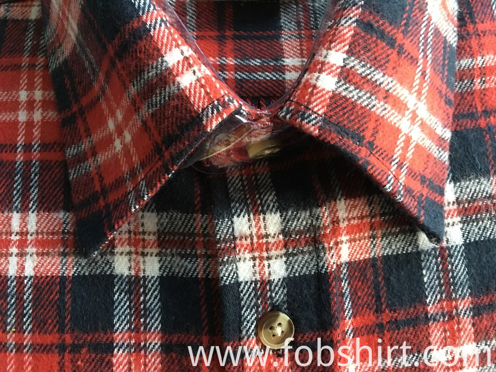 Mens Cotton Flannel Fabric Shirt