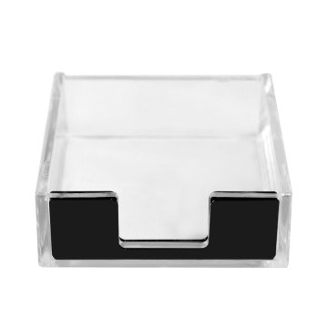 Acrylic Paper Clip and Notepad Holder with Black